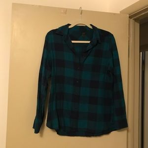 JCrew Plaid Shirt Medium